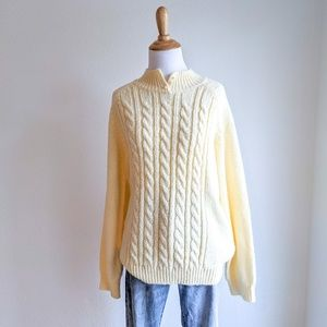Pearl Neck Button Sweater